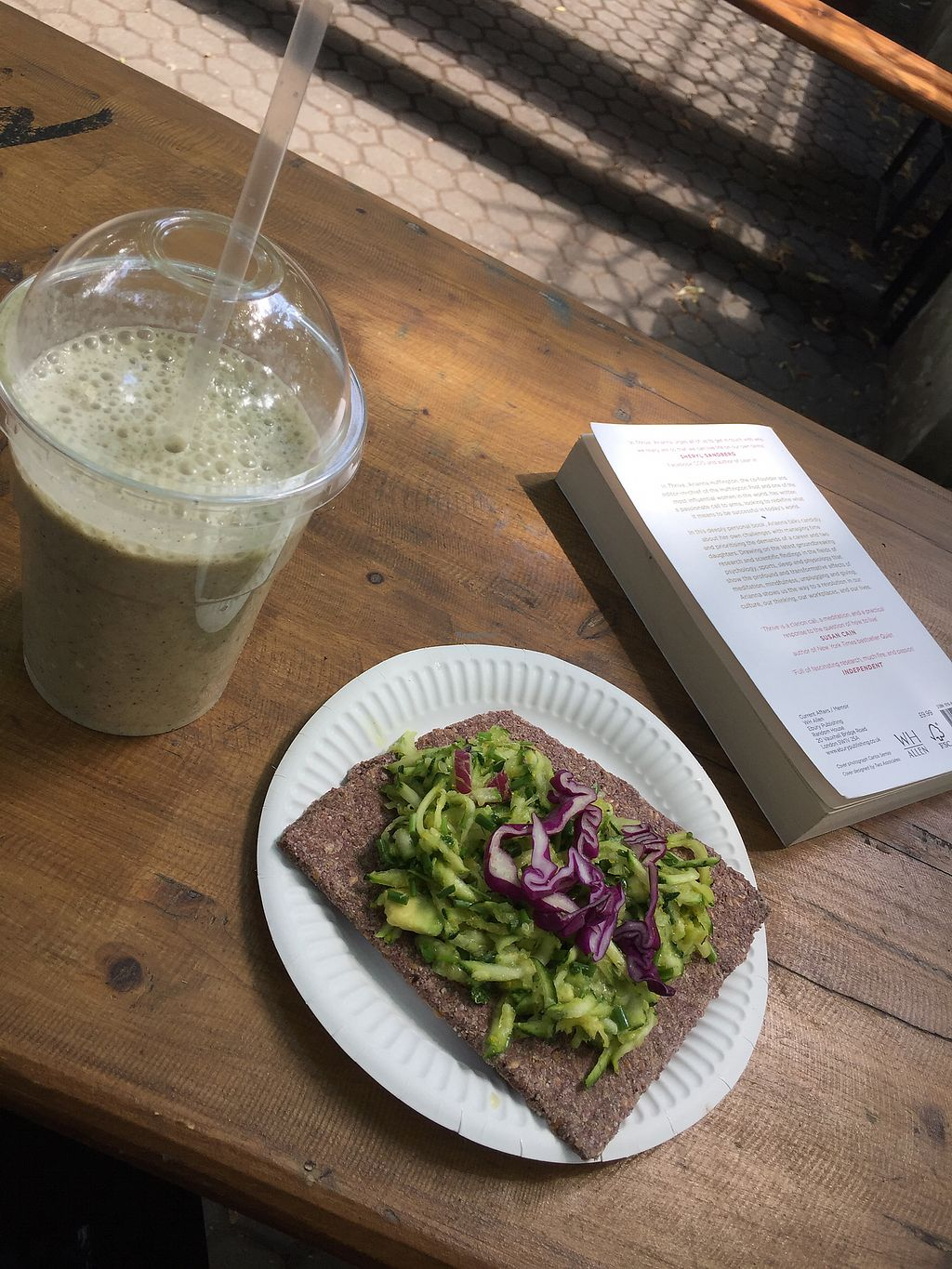 """Photo of bistRAW & Tea  by <a href=""""/members/profile/HannaSle"""">HannaSle</a> <br/>Mango Smoothie & Avokado pizza <br/> July 23, 2017  - <a href='/contact/abuse/image/61888/283655'>Report</a>"""