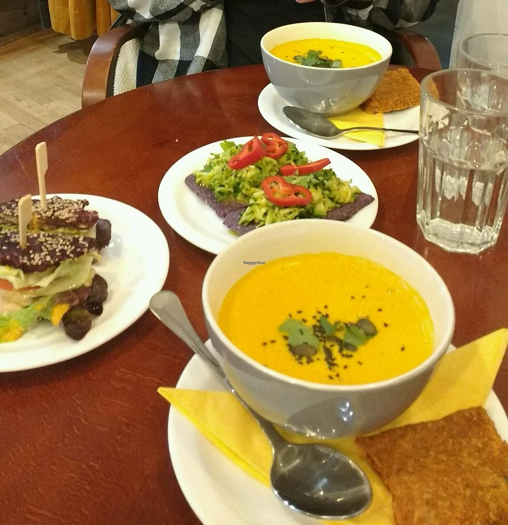 """Photo of bistRAW & Tea  by <a href=""""/members/profile/lilScorpio"""">lilScorpio</a> <br/>raw soup, burger and pizza :-) <br/> February 20, 2018  - <a href='/contact/abuse/image/61888/361689'>Report</a>"""