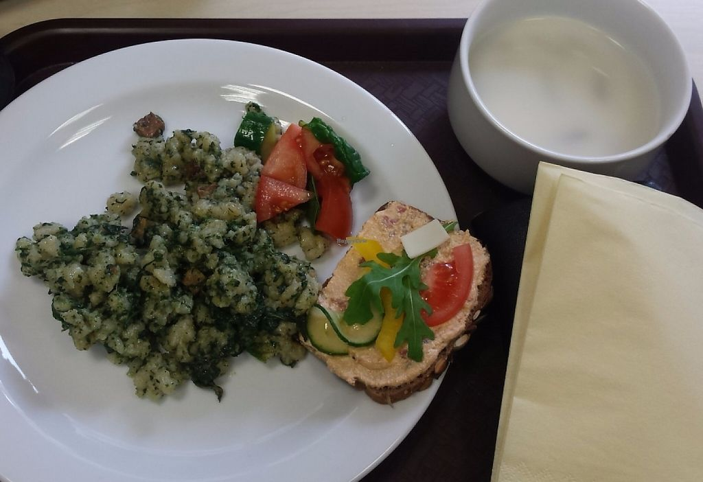 """Photo of V.bistro  by <a href=""""/members/profile/LuciaFabianova"""">LuciaFabianova</a> <br/>Their menu- dumpling with spinach <br/> July 4, 2016  - <a href='/contact/abuse/image/61895/236187'>Report</a>"""