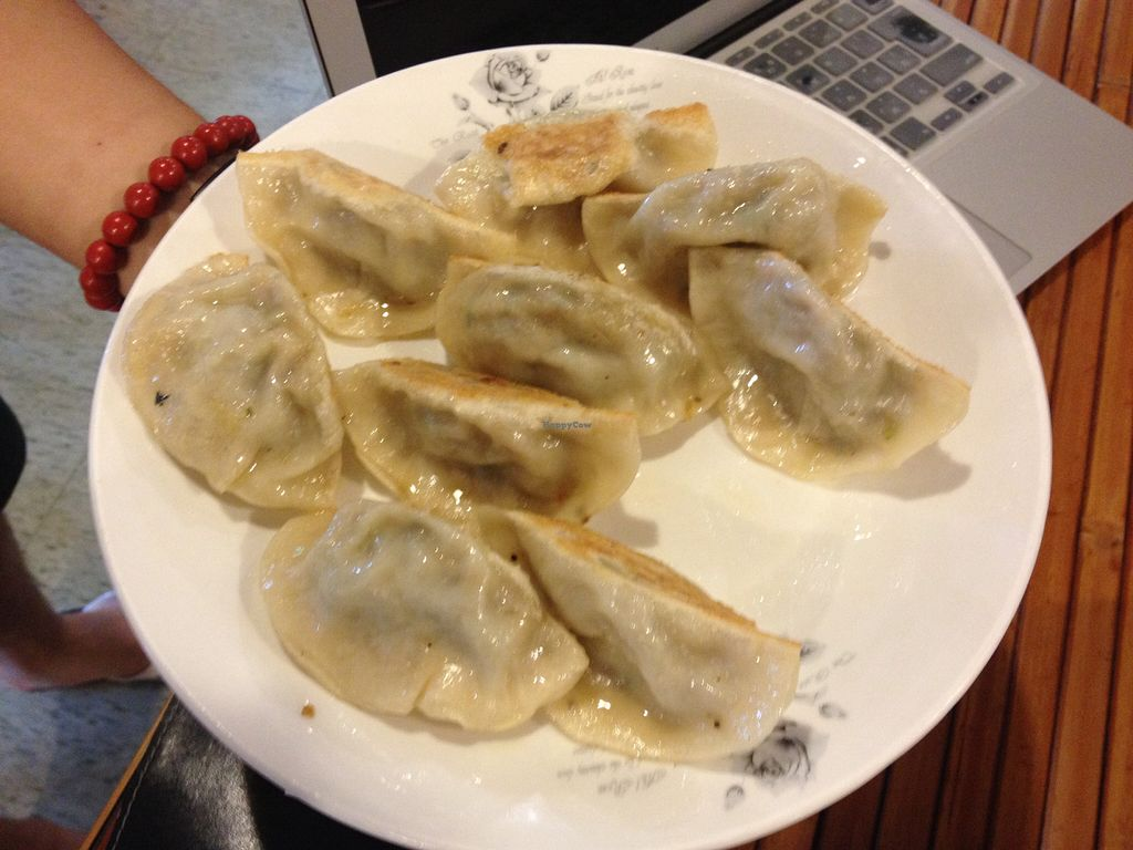 "Photo of Hong Xiu Zhou  by <a href=""/members/profile/HollyCow"">HollyCow</a> <br/>Vegan dumplings  <br/> August 14, 2015  - <a href='/contact/abuse/image/61909/113517'>Report</a>"