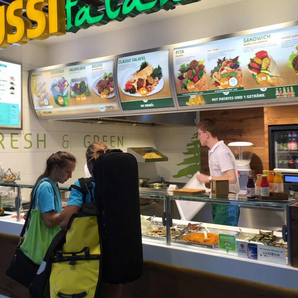 "Photo of Boussi Falafel - Mall of Berlin  by <a href=""/members/profile/altegoist"">altegoist</a> <br/>where you buy <br/> September 19, 2015  - <a href='/contact/abuse/image/61914/118401'>Report</a>"