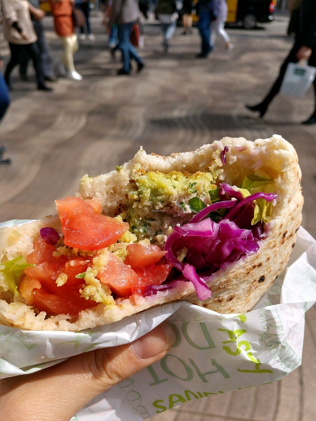 "Photo of Falafel Boqueria - Food Stall  by <a href=""/members/profile/DebbieLee"">DebbieLee</a> <br/>falafel with nearly all the topping choices! sooo goooood <br/> April 5, 2018  - <a href='/contact/abuse/image/61967/381165'>Report</a>"