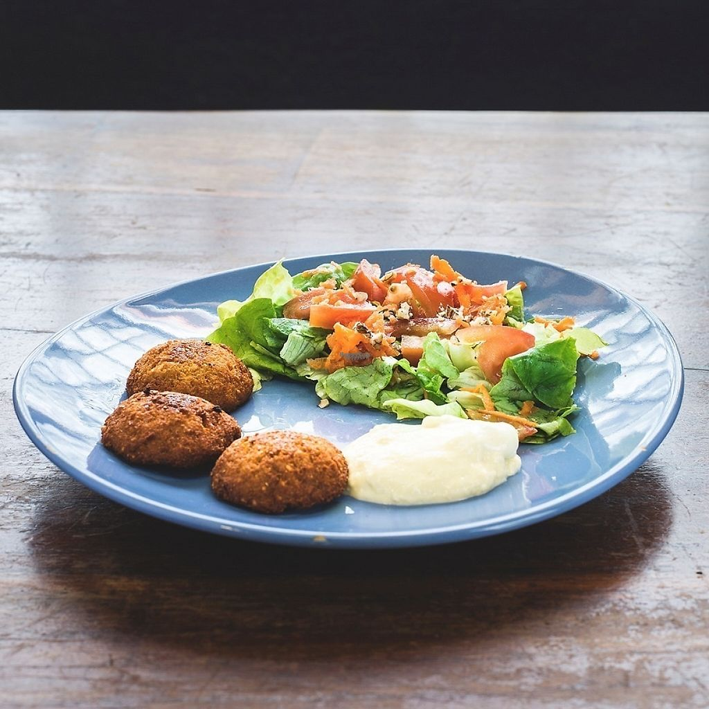 """Photo of A Cova Dos Ratos  by <a href=""""/members/profile/Serchs"""">Serchs</a> <br/>Falafel with salad <br/> April 16, 2017  - <a href='/contact/abuse/image/61983/248956'>Report</a>"""