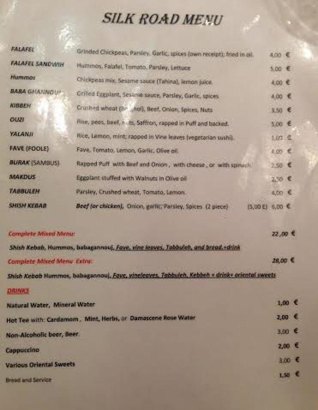 """Photo of La Via Della Seta  by <a href=""""/members/profile/Lesley%20Anne%20Jeavons"""">Lesley Anne Jeavons</a> <br/>La Via Della Seta Rome menu (translated is 'Silk Road') <br/> August 14, 2015  - <a href='/contact/abuse/image/62004/113588'>Report</a>"""
