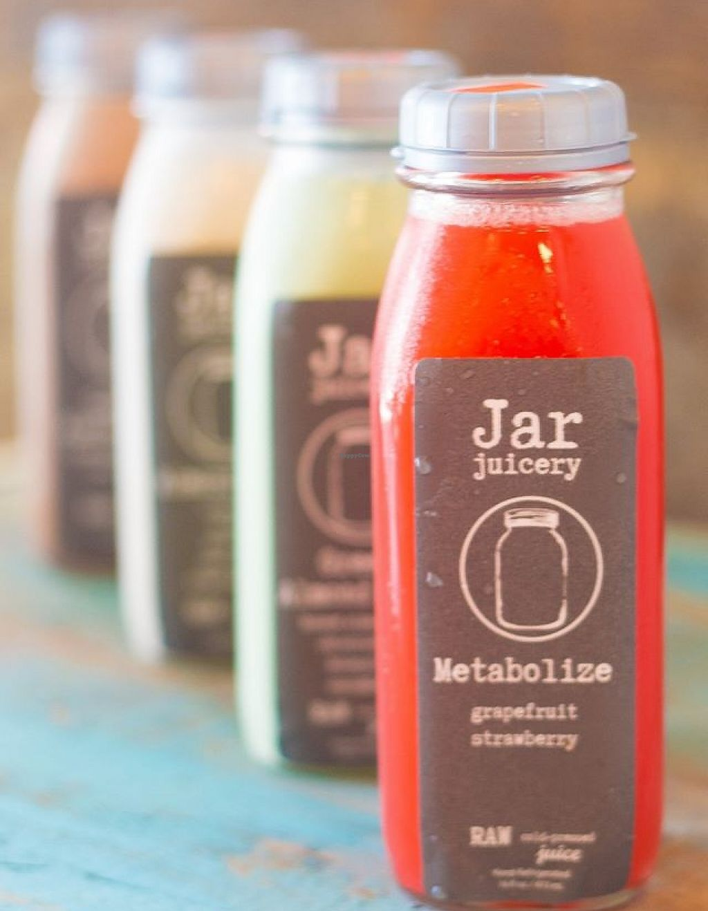"""Photo of Jar + Fork  by <a href=""""/members/profile/community"""">community</a> <br/>fresh juices  <br/> August 24, 2015  - <a href='/contact/abuse/image/62012/196629'>Report</a>"""