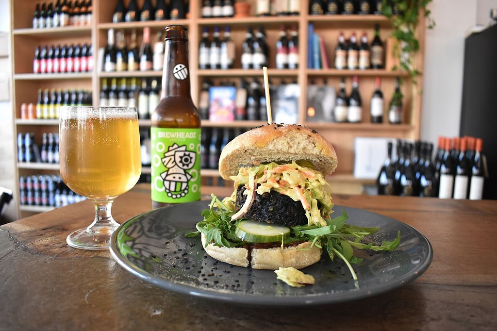 """Photo of The Hive of Vyner St  by <a href=""""/members/profile/thehive"""">thehive</a> <br/>48 hours dehydrated plant based burger <br/> August 30, 2017  - <a href='/contact/abuse/image/62027/299001'>Report</a>"""