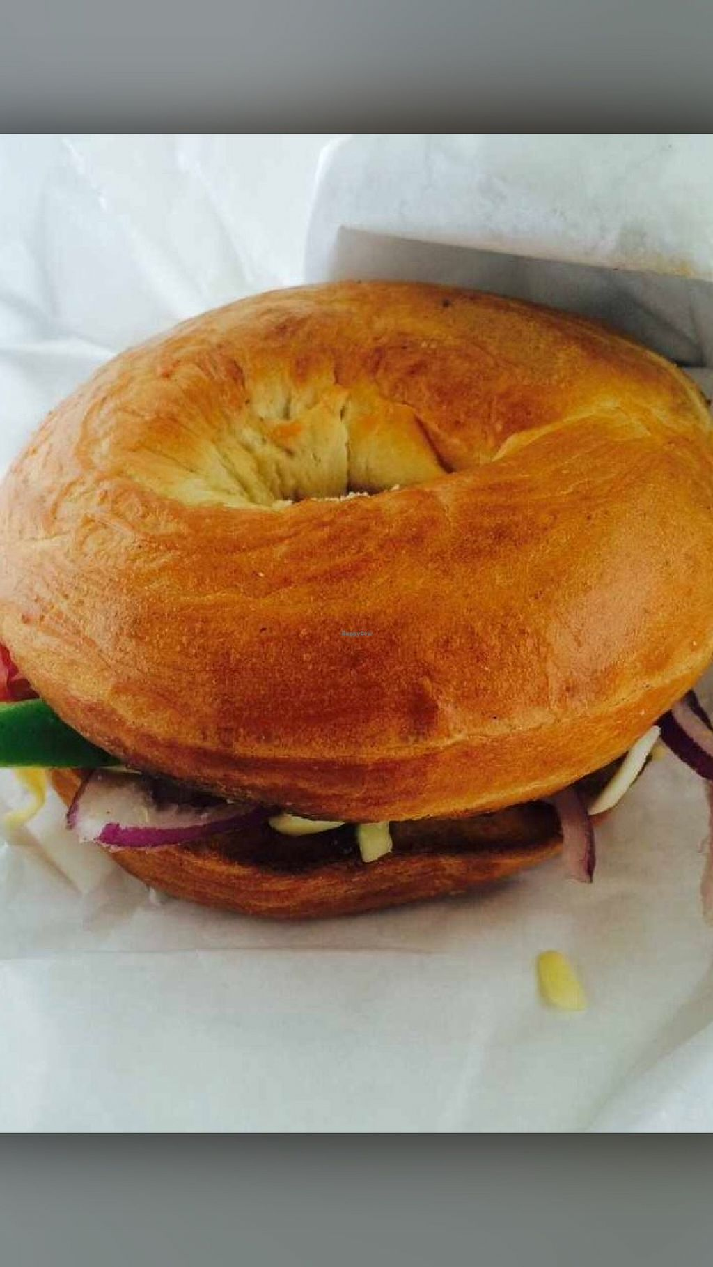 """Photo of Bagel Bean  by <a href=""""/members/profile/CiaraSlevin"""">CiaraSlevin</a> <br/>The veggie bagel (take away) <br/> August 15, 2015  - <a href='/contact/abuse/image/62038/113711'>Report</a>"""