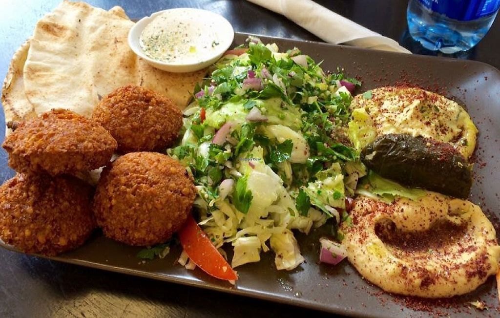 """Photo of Falafel   by <a href=""""/members/profile/CiaraSlevin"""">CiaraSlevin</a> <br/>Falafel platter  <br/> August 15, 2015  - <a href='/contact/abuse/image/62049/239753'>Report</a>"""