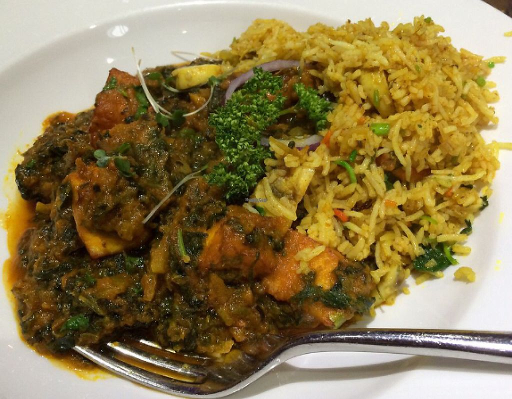 """Photo of The Naz  by <a href=""""/members/profile/CiaraSlevin"""">CiaraSlevin</a> <br/>saag aloo with paneer (Vegetarian) <br/> August 23, 2016  - <a href='/contact/abuse/image/62065/240270'>Report</a>"""