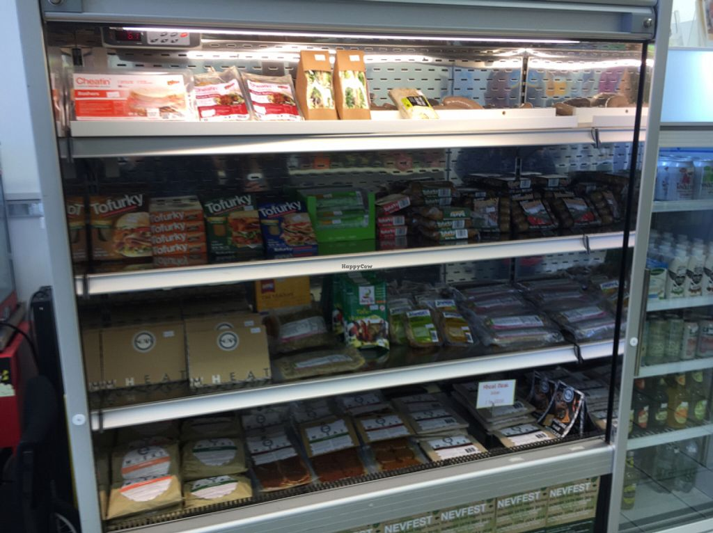 """Photo of Farplace Vegan Store  by <a href=""""/members/profile/hack_man"""">hack_man</a> <br/>Vegan deli section  <br/> June 4, 2016  - <a href='/contact/abuse/image/62070/152287'>Report</a>"""