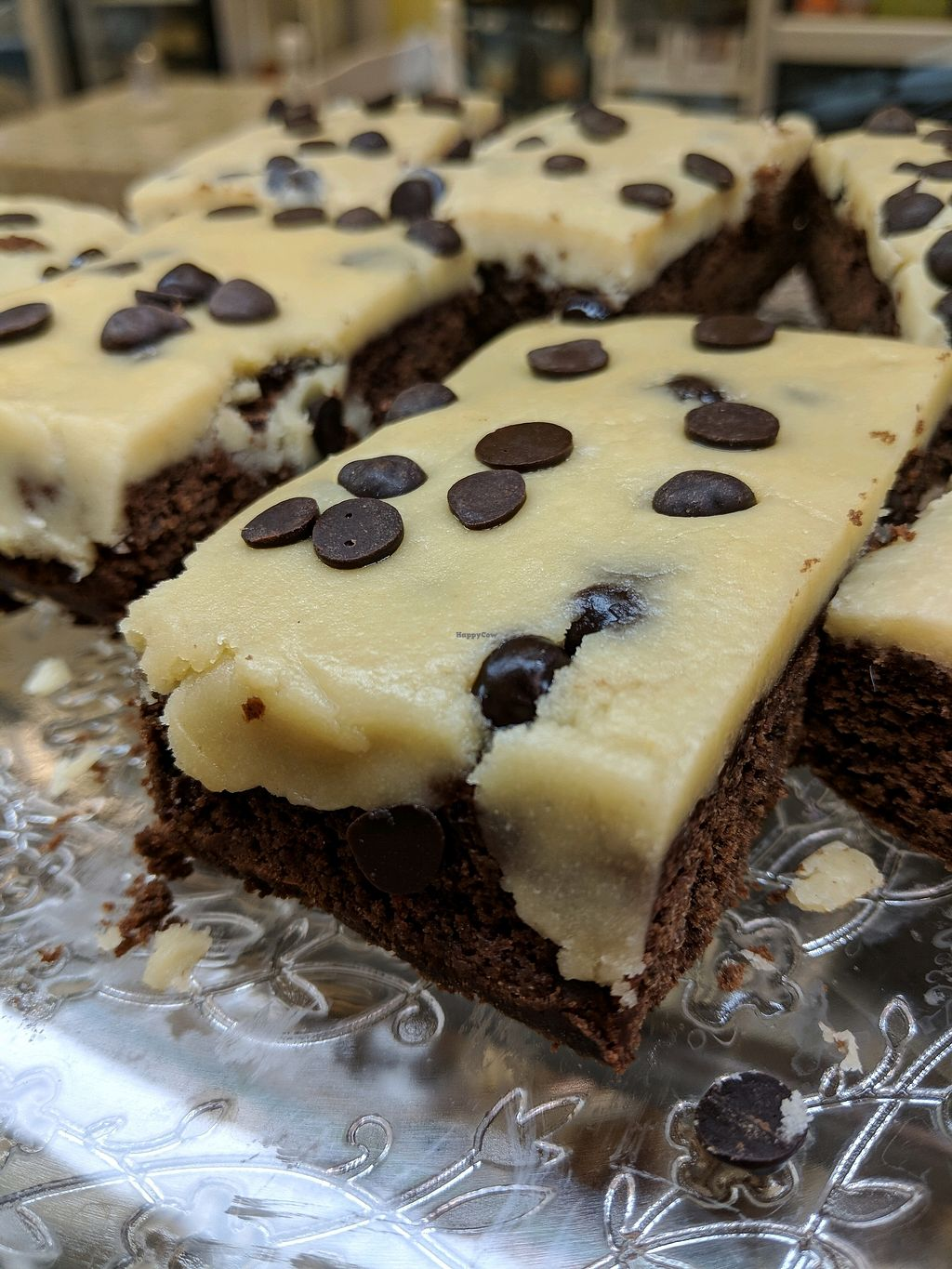 """Photo of Farplace Vegan Store  by <a href=""""/members/profile/HollyMusgrove"""">HollyMusgrove</a> <br/>Cookie dough brownies <br/> February 14, 2018  - <a href='/contact/abuse/image/62070/359354'>Report</a>"""