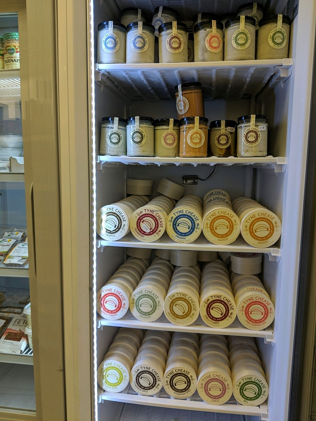 """Photo of Farplace Vegan Store  by <a href=""""/members/profile/HollyMusgrove"""">HollyMusgrove</a> <br/>The Chease Freezer <br/> February 14, 2018  - <a href='/contact/abuse/image/62070/359358'>Report</a>"""