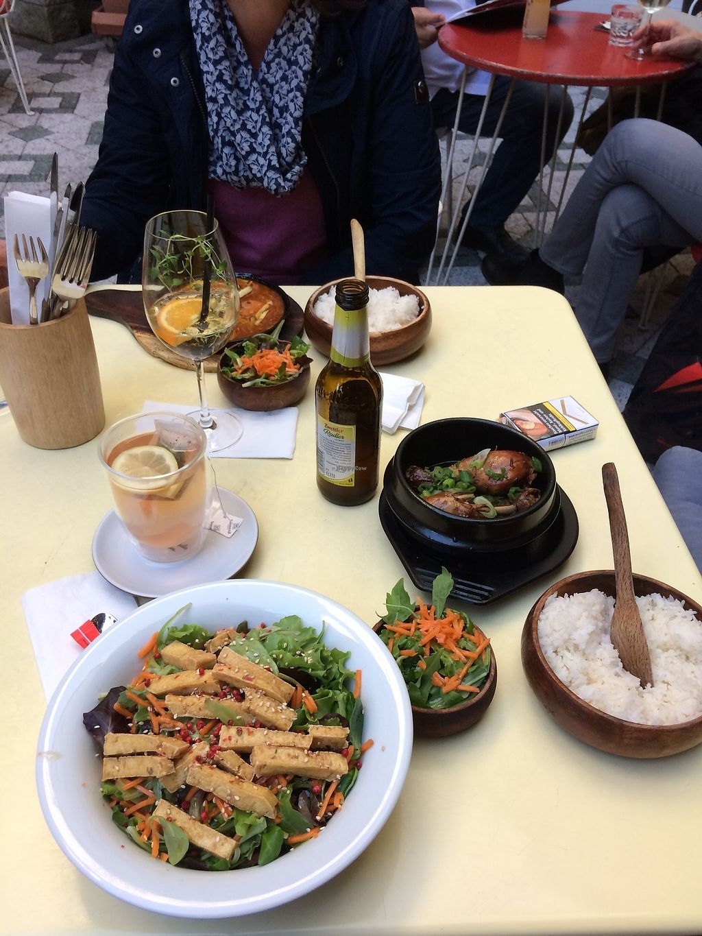 """Photo of Hotel Am Brilliantengrund  by <a href=""""/members/profile/Olenchik"""">Olenchik</a> <br/>Pictured foods: Hipon Adobo Tofu salad <br/> July 27, 2017  - <a href='/contact/abuse/image/62087/285629'>Report</a>"""