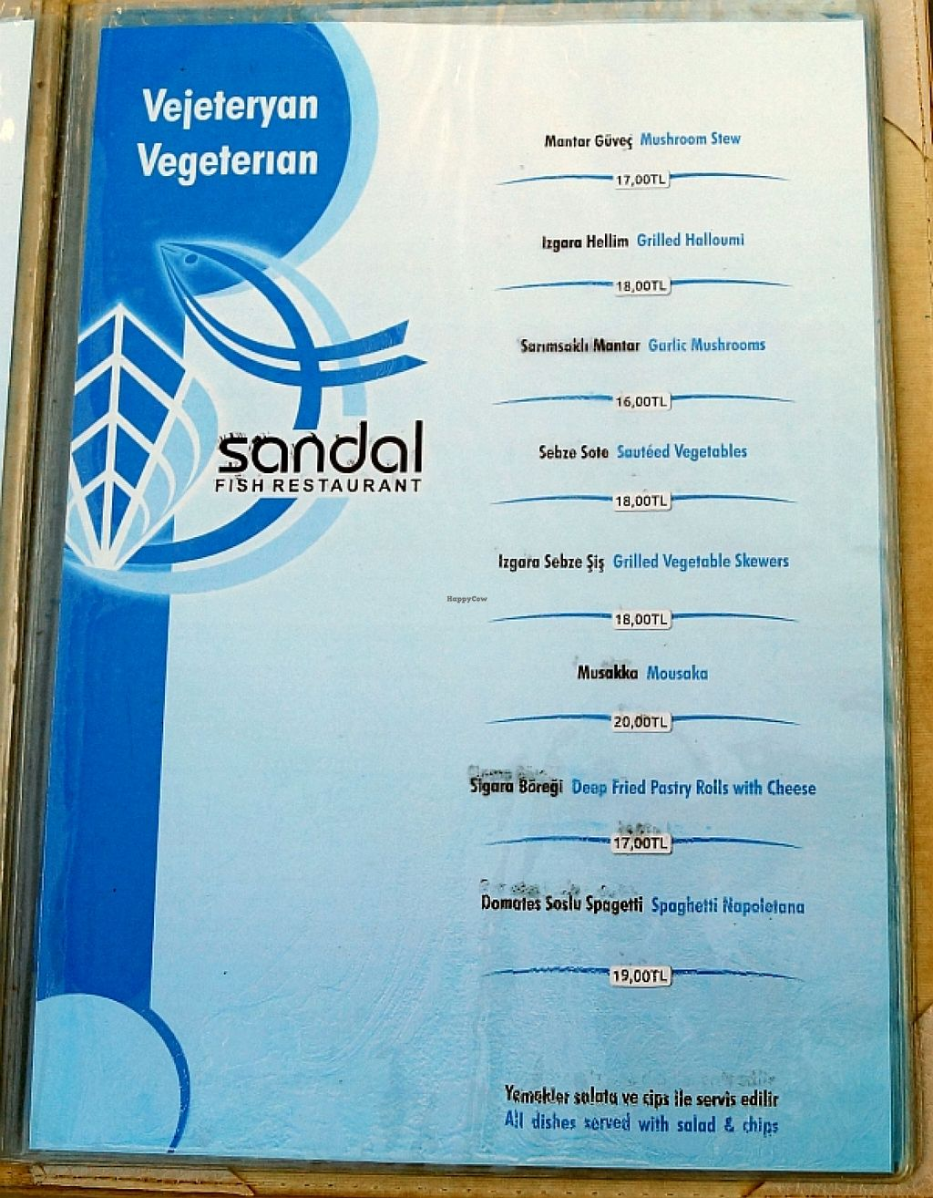 "Photo of Sandal  by <a href=""/members/profile/danielpoland"">danielpoland</a> <br/>Vegetarian menu <br/> August 17, 2015  - <a href='/contact/abuse/image/62091/113933'>Report</a>"