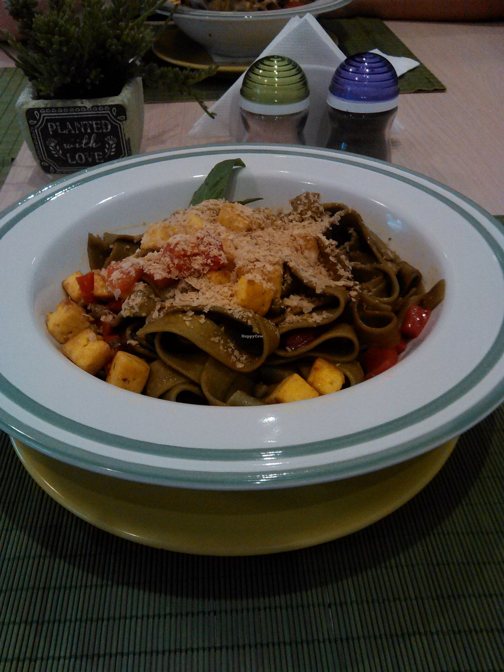 """Photo of BIOFresh  by <a href=""""/members/profile/alexandra_vegan"""">alexandra_vegan</a> <br/>Spinach pasta with tofu. One of my favourites <br/> March 7, 2016  - <a href='/contact/abuse/image/62092/139198'>Report</a>"""