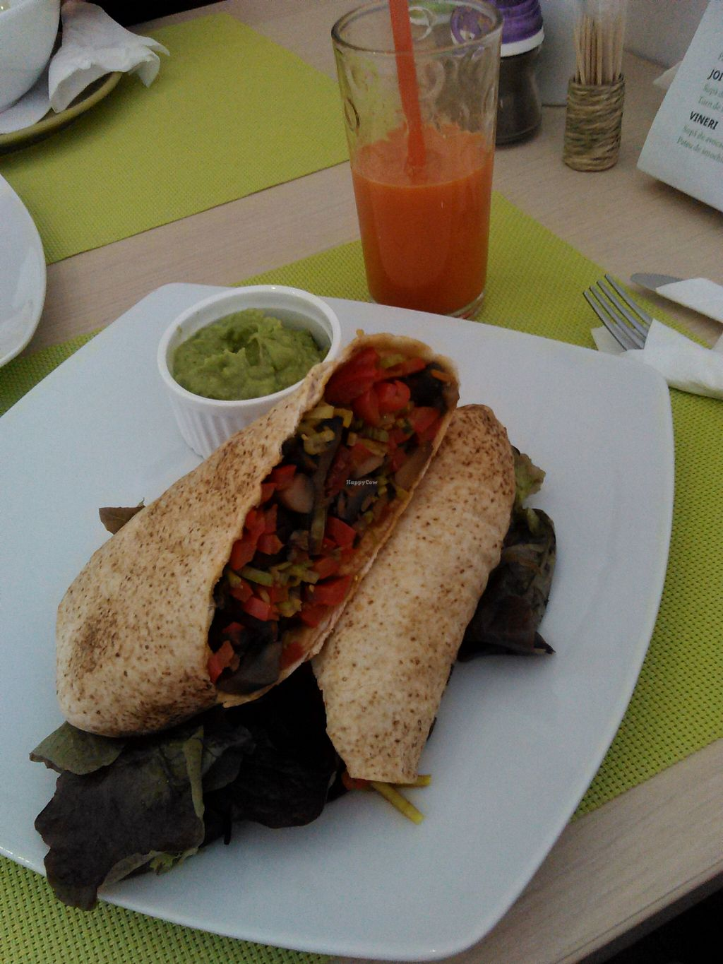 """Photo of BIOFresh  by <a href=""""/members/profile/alexandra_vegan"""">alexandra_vegan</a> <br/>Delicious mushroom fajita served with guacamole sauce <br/> March 7, 2016  - <a href='/contact/abuse/image/62092/139217'>Report</a>"""