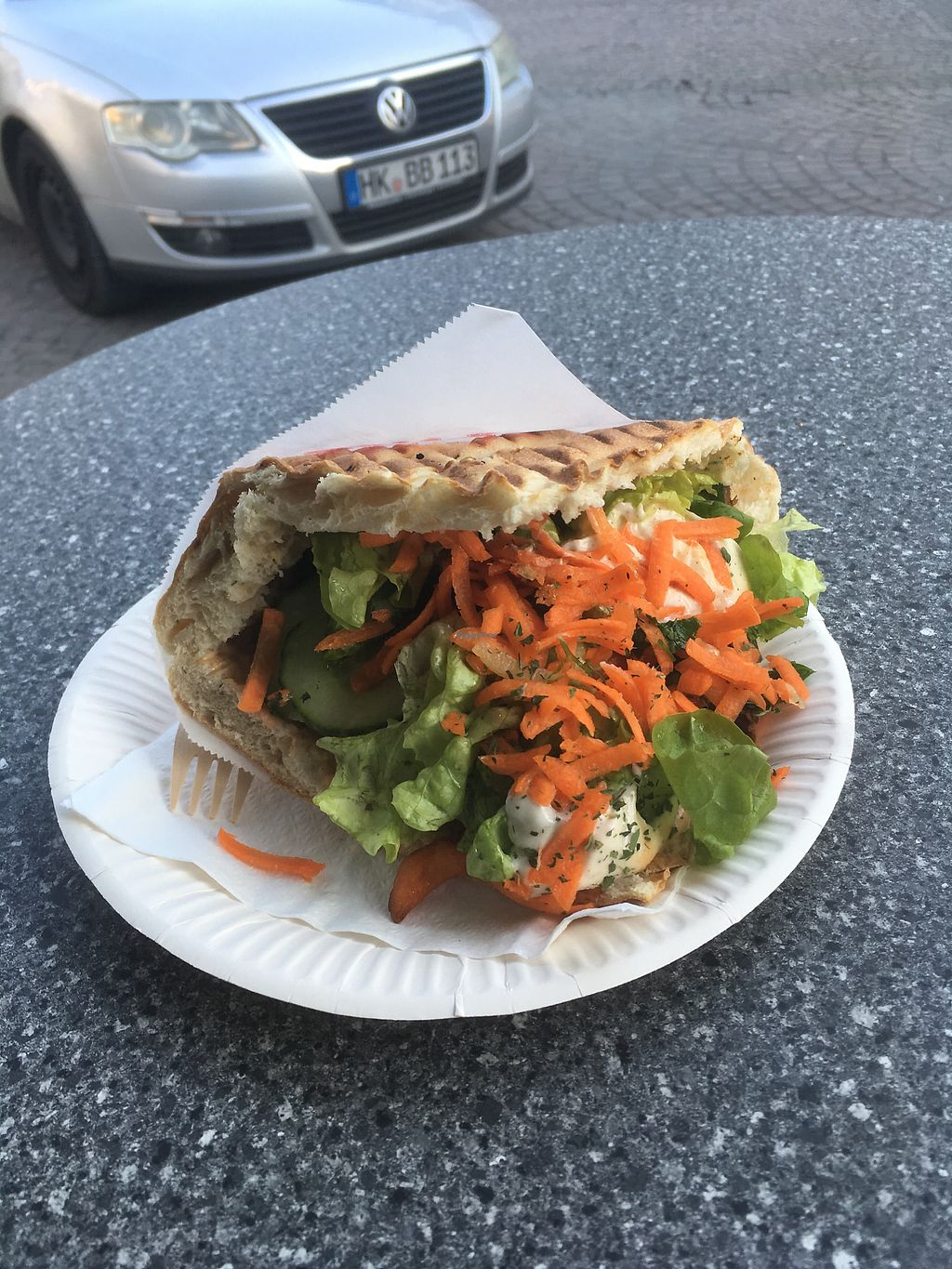 """Photo of Bi-Bu - Food Truck  by <a href=""""/members/profile/annasdrive"""">annasdrive</a> <br/>Gyros Sandwich  <br/> February 24, 2018  - <a href='/contact/abuse/image/62118/363227'>Report</a>"""