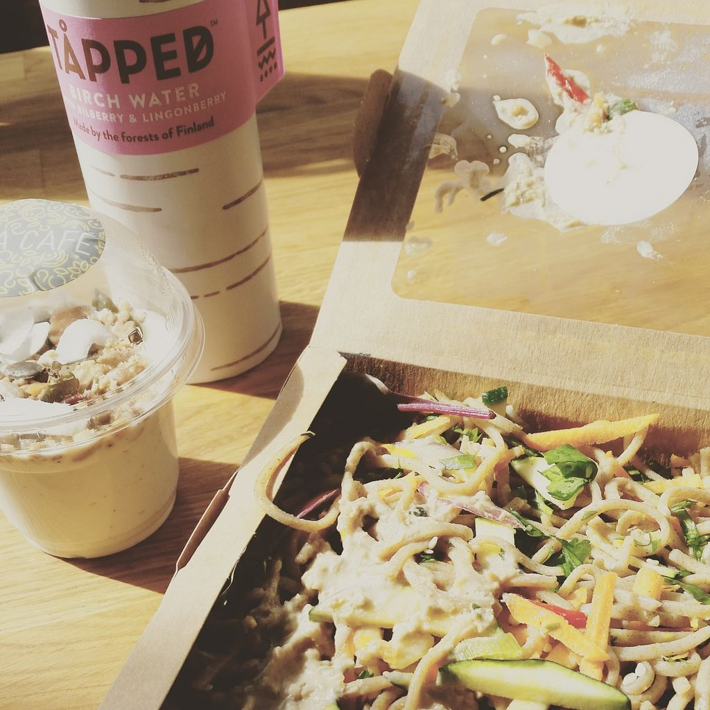 """Photo of Chia Naturally Healthy  by <a href=""""/members/profile/LukeRockall"""">LukeRockall</a> <br/>awesome noodle salad, coconut yogurt and birch water  <br/> September 10, 2015  - <a href='/contact/abuse/image/62206/117235'>Report</a>"""