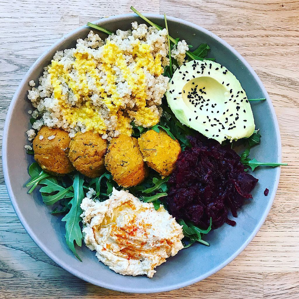 """Photo of Chia Naturally Healthy  by <a href=""""/members/profile/The%20London%20Vegan"""">The London Vegan</a> <br/>Falafel salad  <br/> March 11, 2018  - <a href='/contact/abuse/image/62206/369469'>Report</a>"""