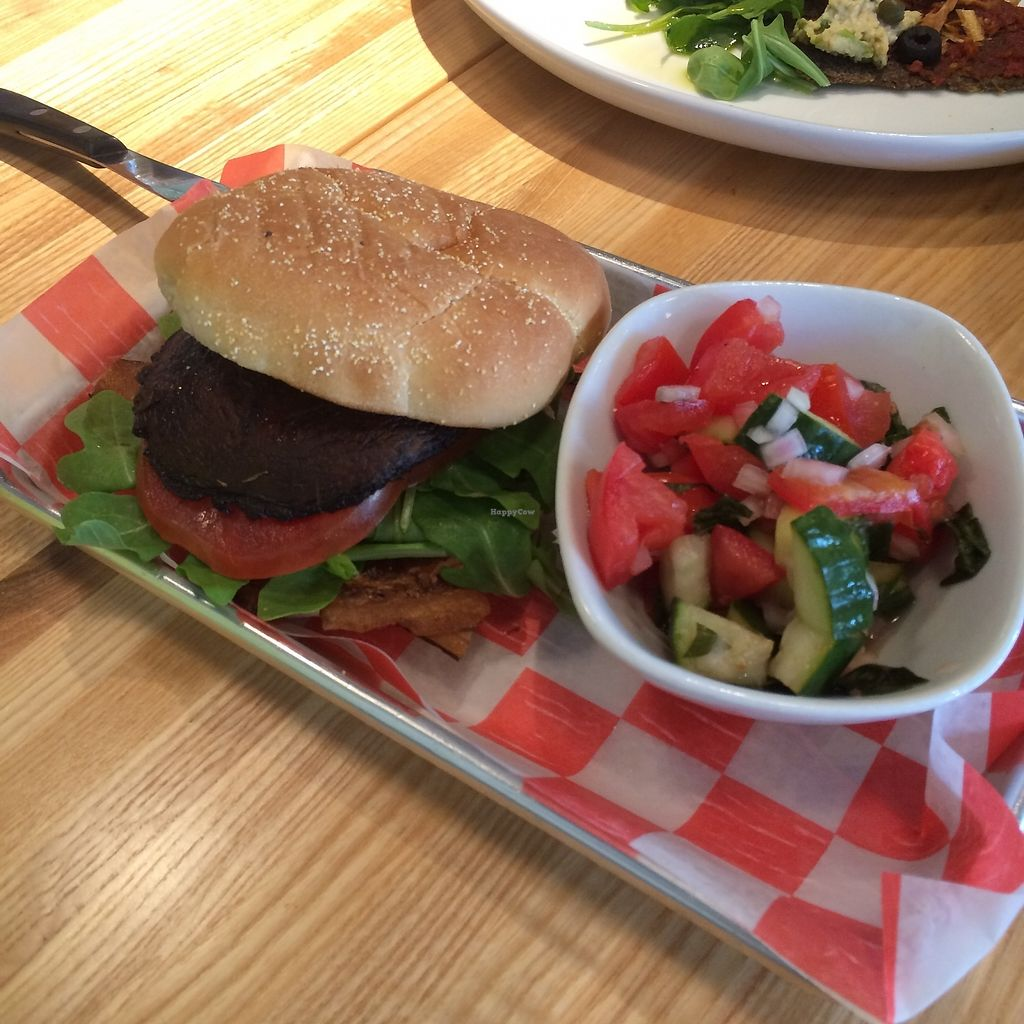 """Photo of The Cider Press Cafe   by <a href=""""/members/profile/KatieBush"""">KatieBush</a> <br/>veggie burger <br/> September 25, 2017  - <a href='/contact/abuse/image/62213/308268'>Report</a>"""