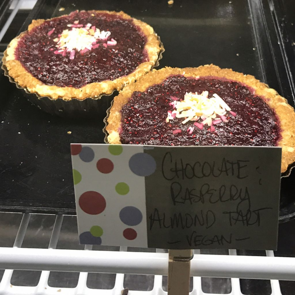 """Photo of Bam Bam Bakery  by <a href=""""/members/profile/Sarah%20P"""">Sarah P</a> <br/>vegan chocolate raspberry tart <br/> March 18, 2017  - <a href='/contact/abuse/image/62226/238117'>Report</a>"""
