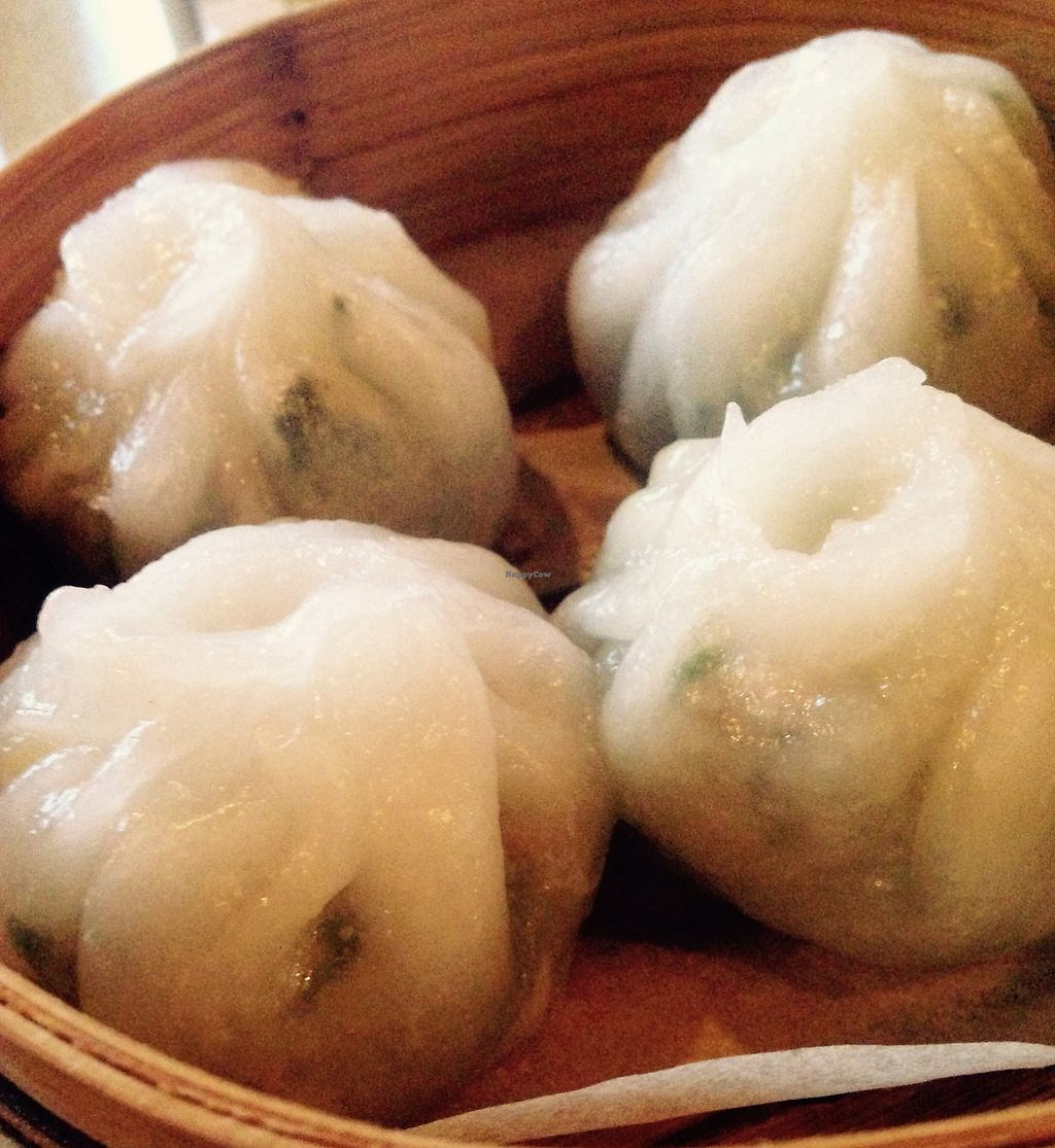 """Photo of Empire Chinese Kitchen  by <a href=""""/members/profile/cookiem"""">cookiem</a> <br/>Spinach dumplings- vegan gf <br/> August 19, 2015  - <a href='/contact/abuse/image/62227/201501'>Report</a>"""