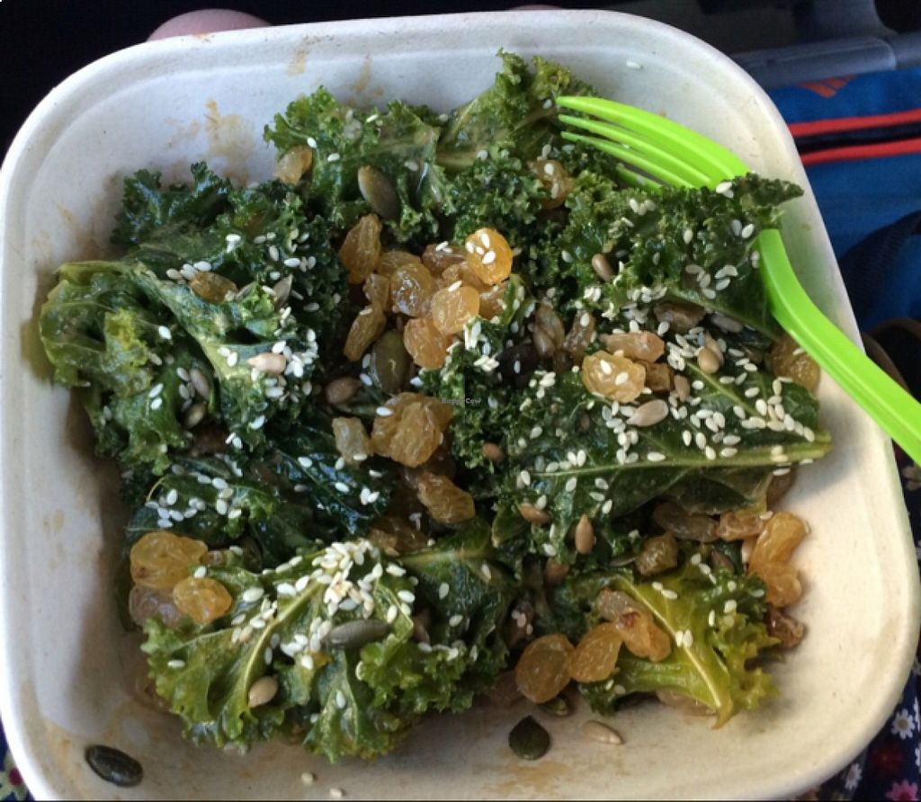 """Photo of Alchemy Juice Company  by <a href=""""/members/profile/Claremveg"""">Claremveg</a> <br/>kale salad  <br/> August 21, 2015  - <a href='/contact/abuse/image/62231/114576'>Report</a>"""