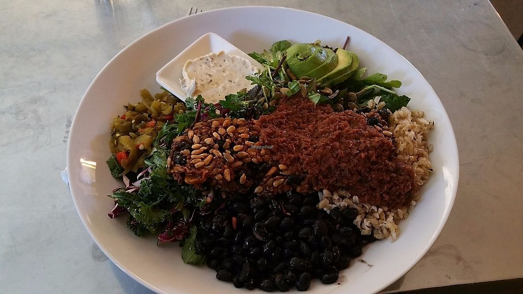 """Photo of House Rock Kitchen  by <a href=""""/members/profile/Julievida"""">Julievida</a> <br/>This is the Southwestern Bowl with veggie patty <br/> May 23, 2017  - <a href='/contact/abuse/image/62242/261775'>Report</a>"""