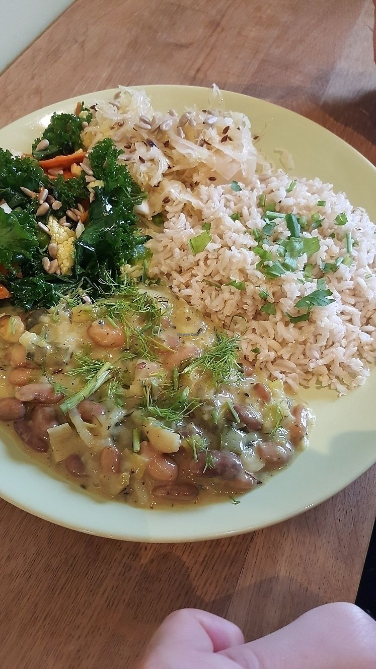 """Photo of Organitheka  by <a href=""""/members/profile/TheTravellingVegan"""">TheTravellingVegan</a> <br/>broccoli and rice dish <br/> June 23, 2017  - <a href='/contact/abuse/image/62283/272591'>Report</a>"""