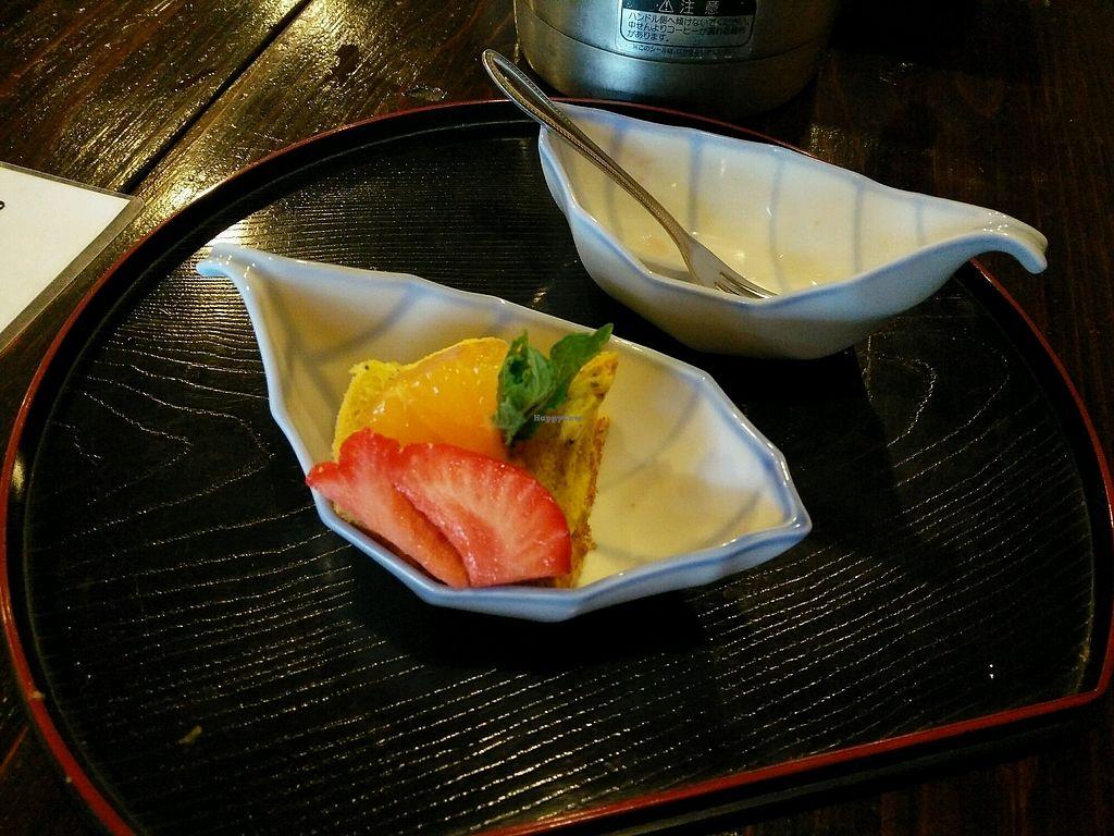 "Photo of Sakura Saku  by <a href=""/members/profile/fatmeercat"">fatmeercat</a> <br/>Pumpkin chiffon cake (not vegan) to finish  <br/> April 12, 2018  - <a href='/contact/abuse/image/62301/384474'>Report</a>"