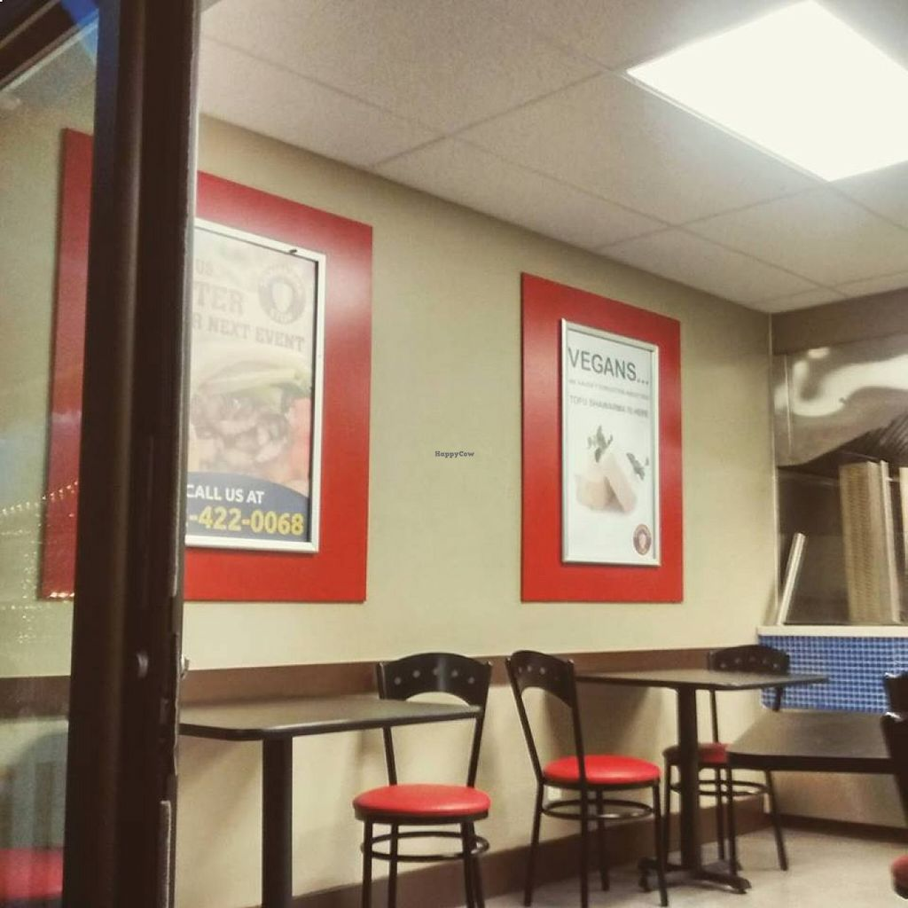 """Photo of Shawarma Stop - Argyle   by <a href=""""/members/profile/QuothTheRaven"""">QuothTheRaven</a> <br/>They haven't forgotten about vegans. :D <br/> August 22, 2015  - <a href='/contact/abuse/image/62321/114655'>Report</a>"""