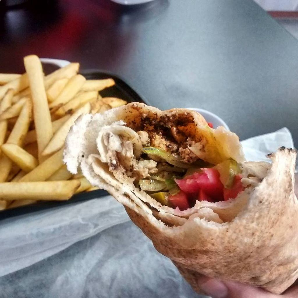 """Photo of Shawarma Stop - Argyle   by <a href=""""/members/profile/QuothTheRaven"""">QuothTheRaven</a> <br/>Tofu shawarma  <br/> August 22, 2015  - <a href='/contact/abuse/image/62321/114656'>Report</a>"""
