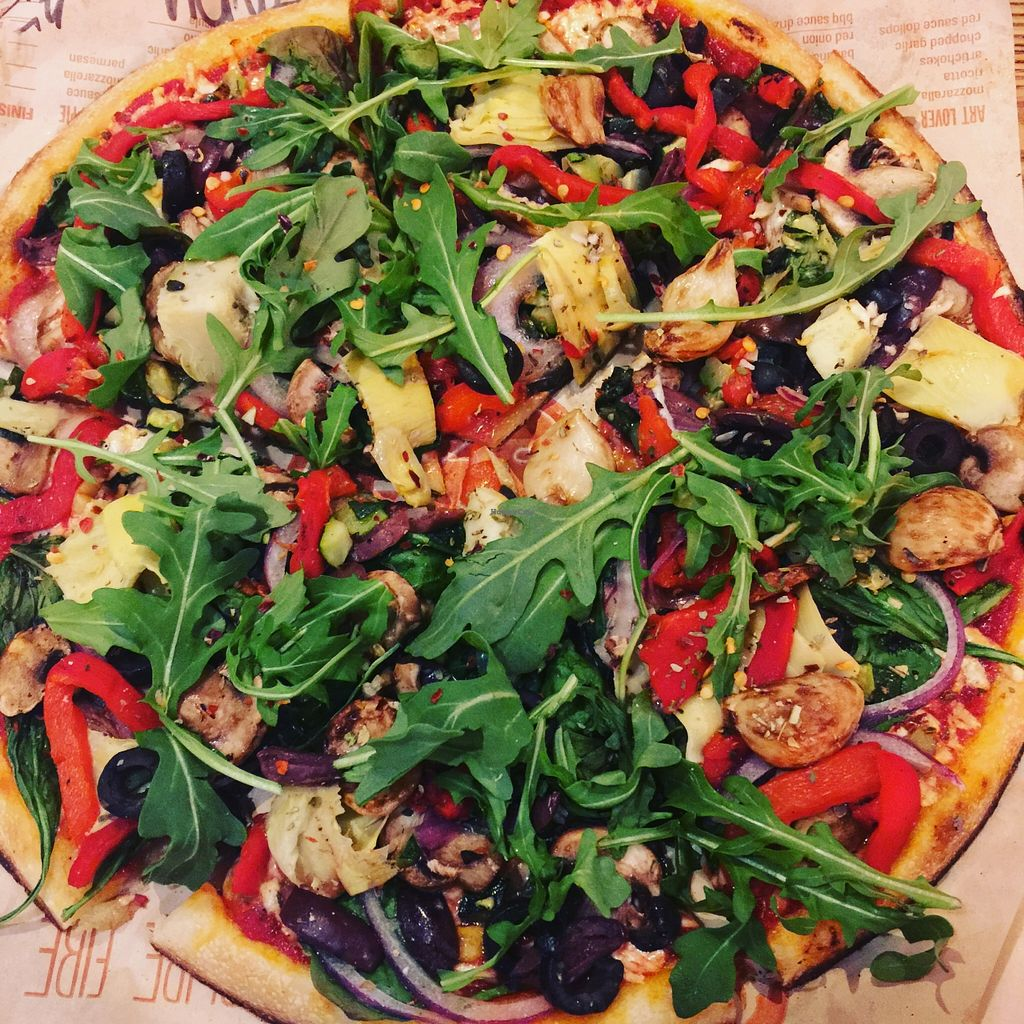 """Photo of Blaze Pizza  by <a href=""""/members/profile/1pink2blue"""">1pink2blue</a> <br/>Vegan Pizza <br/> April 26, 2016  - <a href='/contact/abuse/image/62323/146362'>Report</a>"""