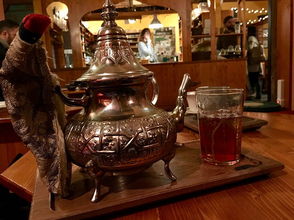 "Photo of Dobra Tea  by <a href=""/members/profile/turtleveg"">turtleveg</a> <br/>Moroccan mint tea service  <br/> March 21, 2018  - <a href='/contact/abuse/image/62331/373900'>Report</a>"