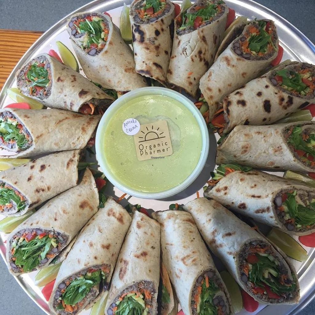 """Photo of Organic Pharmer  by <a href=""""/members/profile/community"""">community</a> <br/>vegan wraps  <br/> August 31, 2015  - <a href='/contact/abuse/image/62336/116030'>Report</a>"""