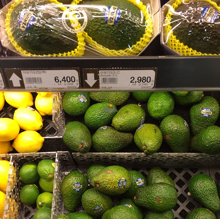 """Photo of Saruga Organic Supermarket - 사러가 슈퍼마켓  by <a href=""""/members/profile/LinnDaugherty"""">LinnDaugherty</a> <br/>avocados <br/> October 9, 2016  - <a href='/contact/abuse/image/62338/180790'>Report</a>"""