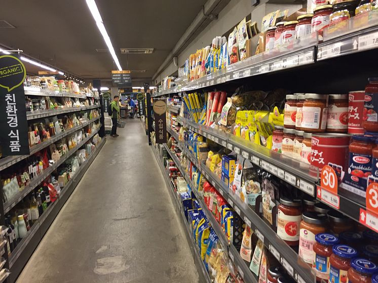 """Photo of Saruga Organic Supermarket - 사러가 슈퍼마켓  by <a href=""""/members/profile/LinnDaugherty"""">LinnDaugherty</a> <br/>Speghetti aisle and other stuff <br/> October 9, 2016  - <a href='/contact/abuse/image/62338/180794'>Report</a>"""