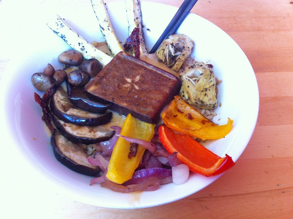 """Photo of Dharma Kitchen  by <a href=""""/members/profile/VictorHugoLimachi"""">VictorHugoLimachi</a> <br/>Best rice bowl in Vancouver! <br/> September 28, 2015  - <a href='/contact/abuse/image/6234/119521'>Report</a>"""