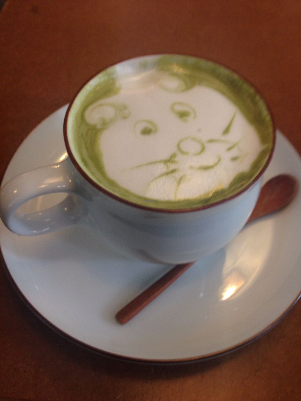 """Photo of MuYe - Mottainai Plant-Based Whole Food Cafe  by <a href=""""/members/profile/Lizjm"""">Lizjm</a> <br/>Matcha latte with homemade macadamia nut milk  <br/> February 1, 2018  - <a href='/contact/abuse/image/62356/353430'>Report</a>"""