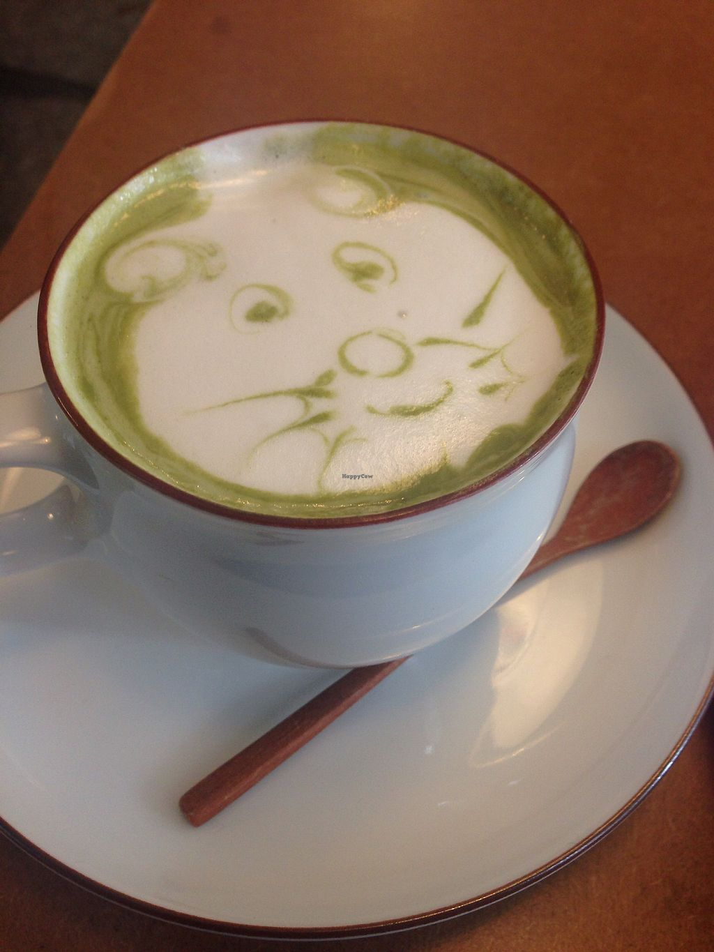 """Photo of MuYe - Mottainai Plant-Based Whole Food Cafe  by <a href=""""/members/profile/Lizjm"""">Lizjm</a> <br/>Matcha latte with homemade macadamia nut milk  <br/> February 1, 2018  - <a href='/contact/abuse/image/62356/353432'>Report</a>"""