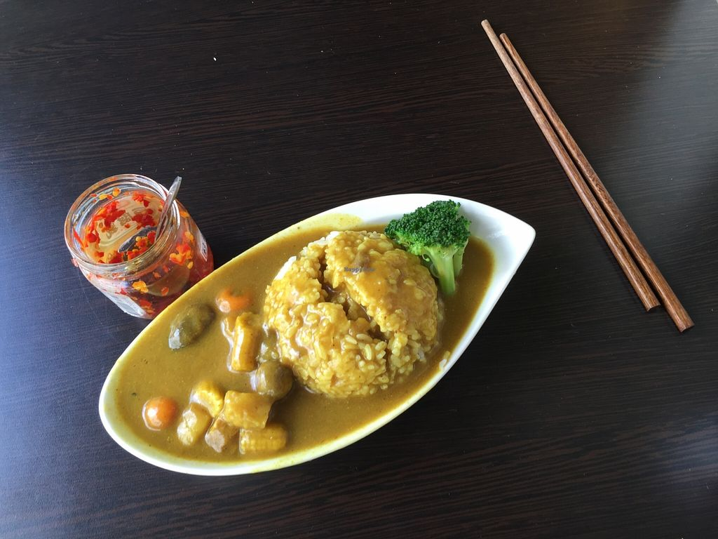 """Photo of Vegan House - maybe closed  by <a href=""""/members/profile/eatshitanddie"""">eatshitanddie</a> <br/>Curry dish <br/> August 30, 2015  - <a href='/contact/abuse/image/62381/115733'>Report</a>"""