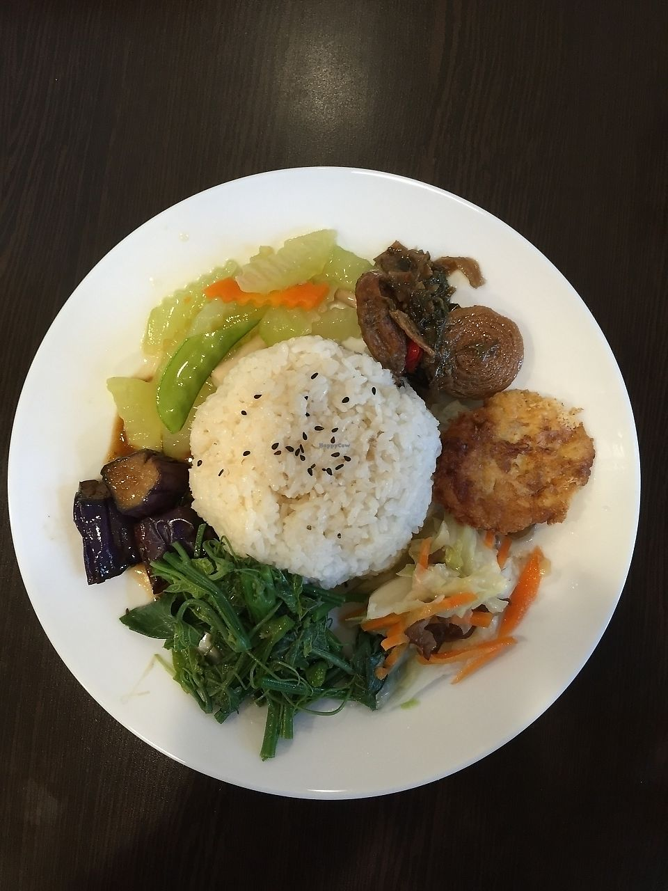 """Photo of Vegan House - maybe closed  by <a href=""""/members/profile/eatshitanddie"""">eatshitanddie</a> <br/>medley dish <br/> August 30, 2015  - <a href='/contact/abuse/image/62381/322451'>Report</a>"""