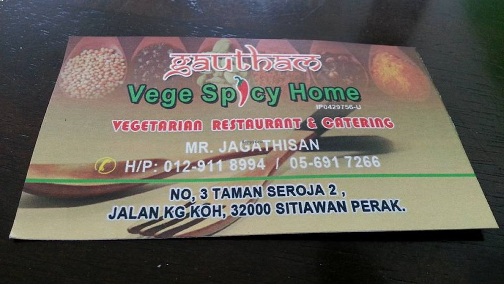 """Photo of Vege Spicy Home  by <a href=""""/members/profile/walter007"""">walter007</a> <br/>name card <br/> August 24, 2015  - <a href='/contact/abuse/image/62387/114975'>Report</a>"""