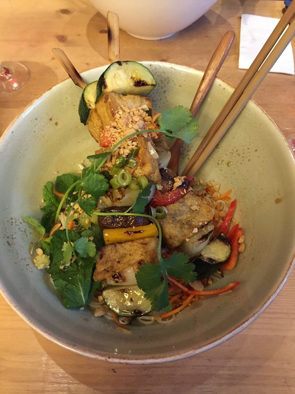 """Photo of Memoires d'Indochine  by <a href=""""/members/profile/EmKlu"""">EmKlu</a> <br/>Veggie/tofu skewers over rice noodles with a delicious sauce! <br/> March 21, 2016  - <a href='/contact/abuse/image/62401/140779'>Report</a>"""