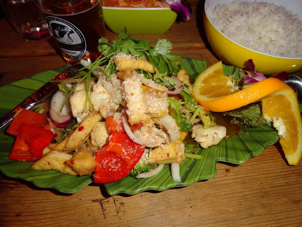 """Photo of Koh Phangan Restaurant  by <a href=""""/members/profile/JonJon"""">JonJon</a> <br/>Grilled tofu with vegetables and spicy sauce <br/> August 24, 2015  - <a href='/contact/abuse/image/62452/115085'>Report</a>"""