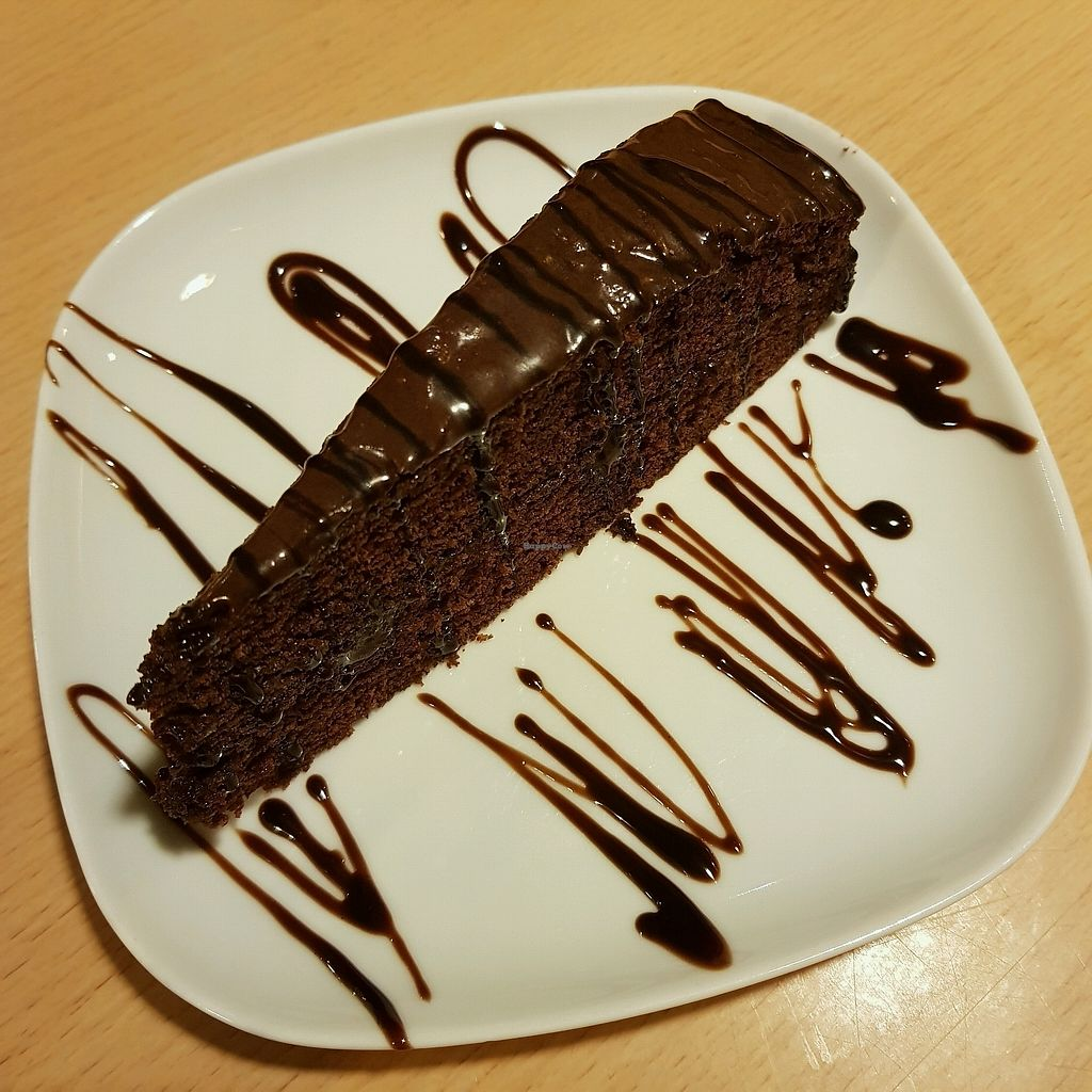 """Photo of Old School Vegetarian Restaurant  by <a href=""""/members/profile/Sassyvegan"""">Sassyvegan</a> <br/>Vegan chocolate cake <br/> September 9, 2017  - <a href='/contact/abuse/image/62483/302608'>Report</a>"""