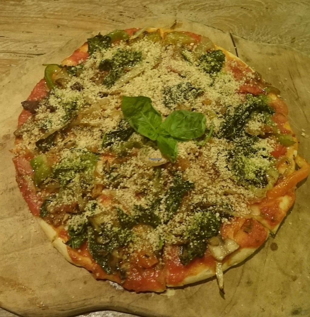 """Photo of Atman Kafe  by <a href=""""/members/profile/Cynthia1998"""">Cynthia1998</a> <br/>Vegan pizza <br/> January 31, 2017  - <a href='/contact/abuse/image/62560/220196'>Report</a>"""