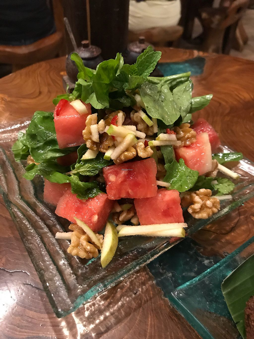 """Photo of Atman Kafe  by <a href=""""/members/profile/LolaNachtigall"""">LolaNachtigall</a> <br/>Vegan Watermelon Salad <br/> March 7, 2018  - <a href='/contact/abuse/image/62560/367754'>Report</a>"""