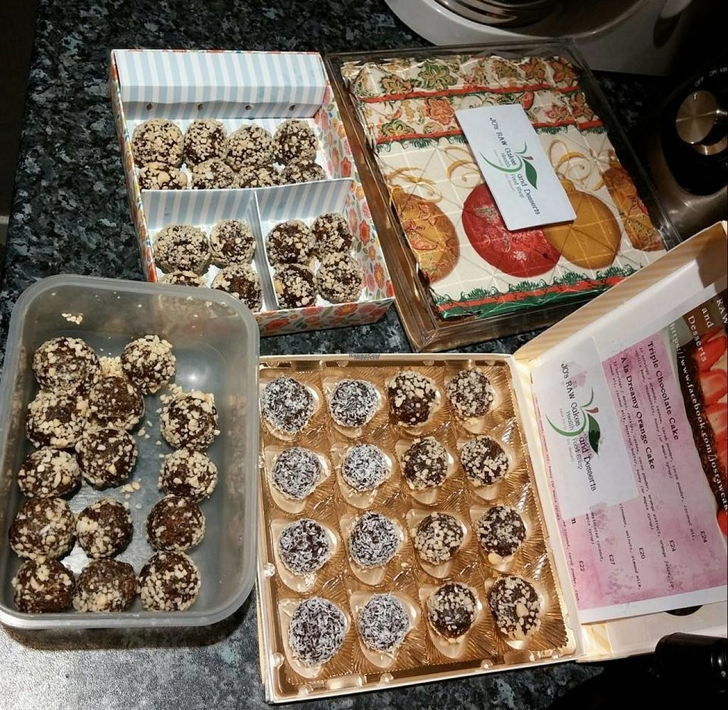 "Photo of Jo's RAW Cakes and Desserts  by <a href=""/members/profile/Meaks"">Meaks</a> <br/>Jo's RAW Cakes and Desserts <br/> August 1, 2016  - <a href='/contact/abuse/image/62567/164102'>Report</a>"