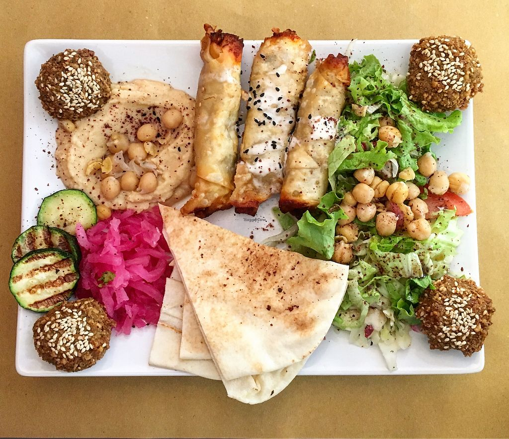 """Photo of Mr Falafel  by <a href=""""/members/profile/CoupleOfVegans"""">CoupleOfVegans</a> <br/>Falafel plate <br/> October 4, 2017  - <a href='/contact/abuse/image/62575/311693'>Report</a>"""
